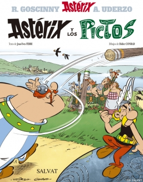 Asterix and the Picts.. The new adventure of the two famous characters, printed in Gráficas Estella